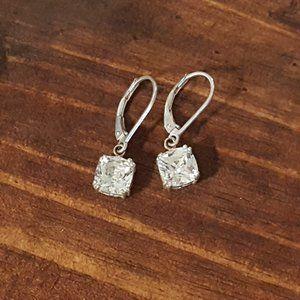 VTG 925 SS CZ Dangled Earrings